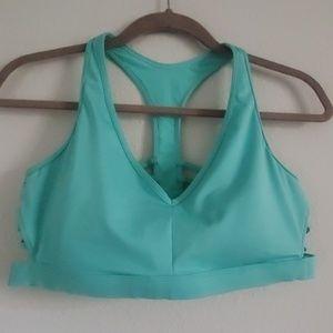 Aqua blue sports bra (bralette)